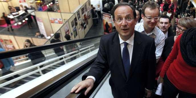 François Hollande en déplacement à Nantes, le 19 janvier.