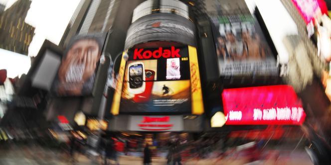 Publicité pour Kodak, à Times Square, à New York.