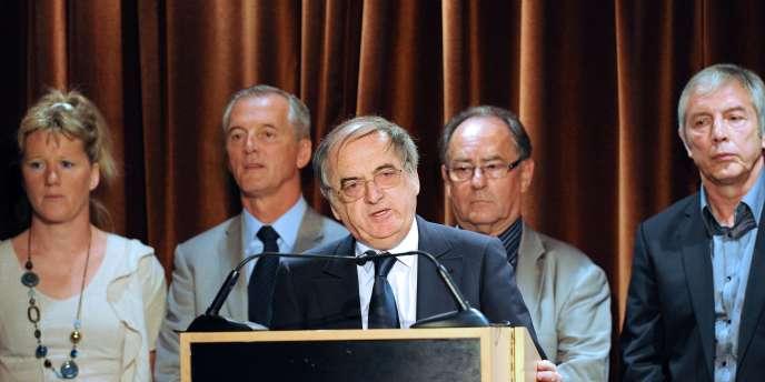 La liste de Noël Le Graët a obtenue la majorité absolue des voix lors du premier tour de l'élection du président de la FFF, le 18 juin.