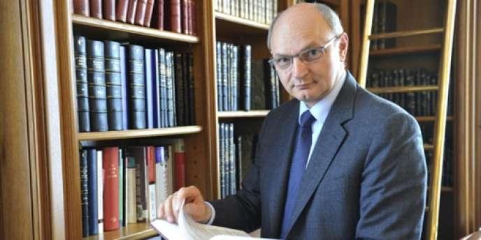 Le premier président de la Cour des comptes, Didier Migaud, à Paris, le 14 avril 2010.