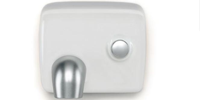 Un sèche-mains à air chaud.