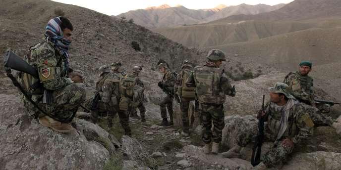 Des soldats français en Afghanistan, le 21 septembre 2010.