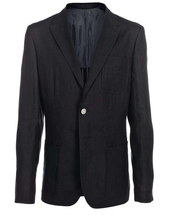 La veste. Noire en coton, 514 €, PS by  Paul Smith. Tél. : 01-53-63-13-19. photo: Paul Smith