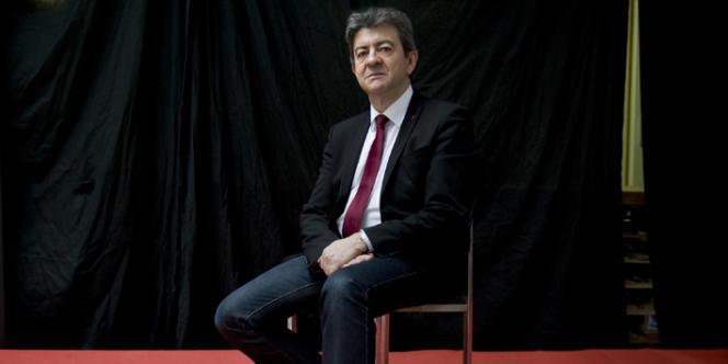 Jean-Luc Mélenchon, dans son QG de campagne,