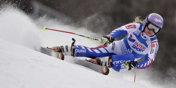 La Française Tessa Worley s'impose sur le géant de Kranjska Gora. Slovénie, le 21 janvier.