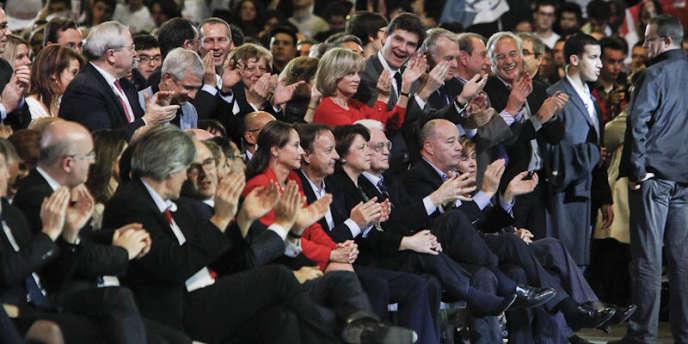 La plupart des principaux dirigeants socialistes étaient présents au Bourget, le 22 janvier, lors du discours de François Hollande.