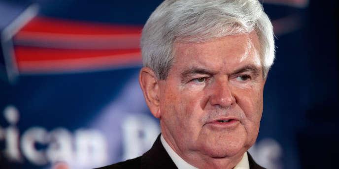 Newt Gingrich, vainqueur de la primaire de Caroline du Sud, le 21 janvier 2012 à Columbia.