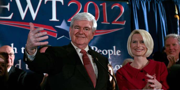 Le républicain Newt Gingrich et son épouse Callista Gingrich, le 2& janvier à Colombia, en Caroline du Sud.