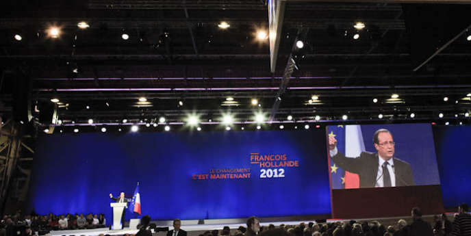 Meeting de François Hollande au Bourget (Seine-Saint-Denis), dimanche 22 janvier.