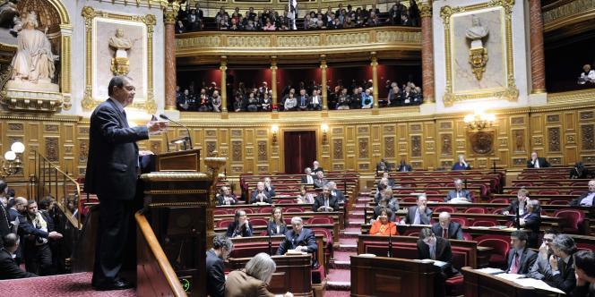 Le ministre des relations avec le Parlement, Patrick Ollier, lors du débat autour de la proposition de loi sur le génocide arménien, le 23 janvier.