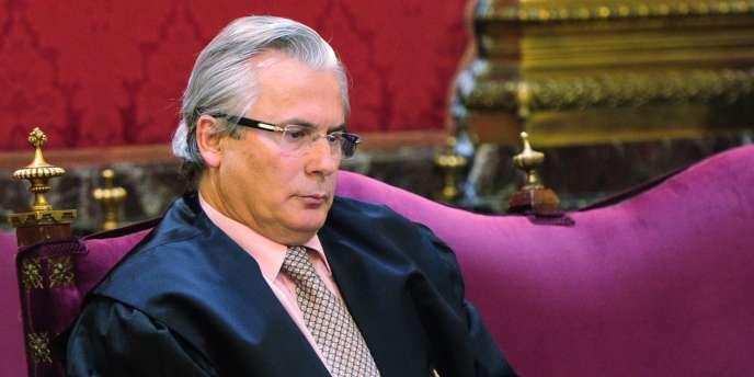 Le juge Baltasar Garzon est accusé d'avoir autorisé des enquêtes sur les crimes du franquisme - ici, le 17 janvier 2012 à Madrid.