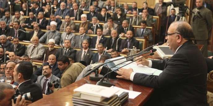 Séance inaugurale du Parlementégyptien, le 23 janvier.