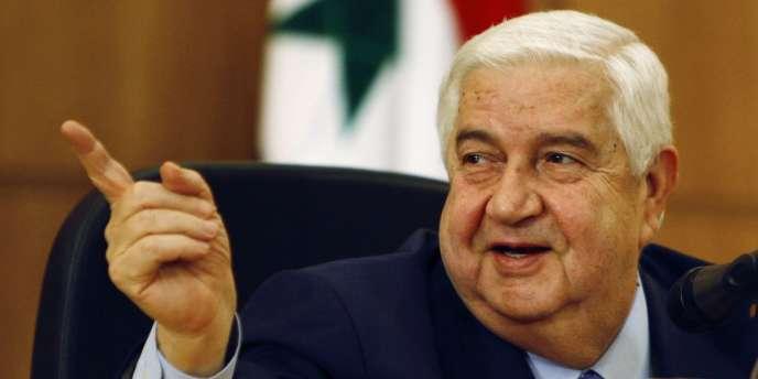 Le ministre des affaires étrangères syrien, Walid Mouallem, représentant du gouvernement syrien à Genève 2.