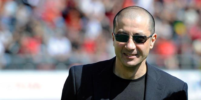 Mourad Boudjellal, président du RC Toulon, au stade Mayol, le 24 janvier.