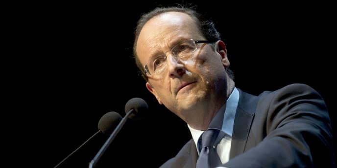 François Hollande, le 24 janvier, à Toulon.