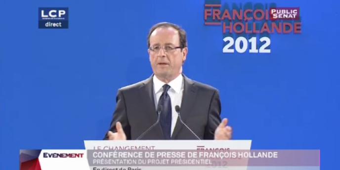François Hollande présente son projet, le 26 janvier, à Paris.