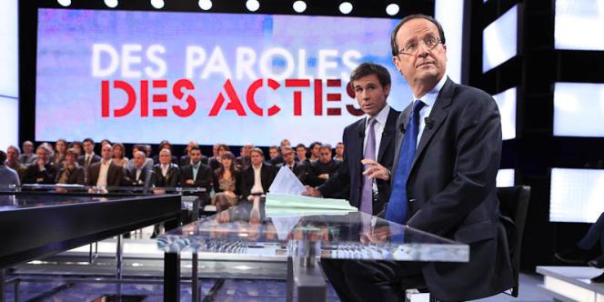 François Hollande sur France 2, le 26 janvier 2012.