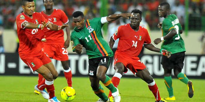 Match entre la Zambie et la Guinée-Equatoriale en janvier 2012, lors de la CAN.