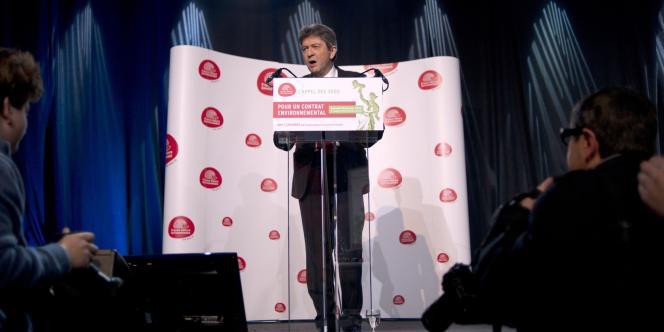 Jean-Luc Mélenchon lors de son discours au congrès de France Nature Environnement, le 28 janvier 2012.