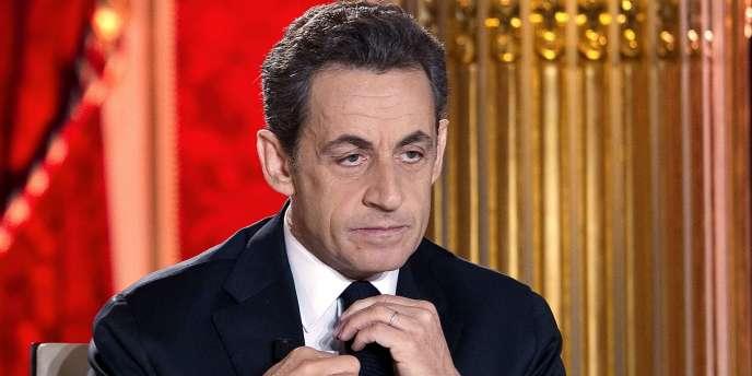 Nicolas Sarkozy le 29 janvier 2012.