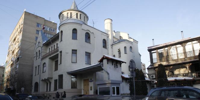 Vue de l'ambassade de Syrie à Moscou, le 30 janvier 2012.