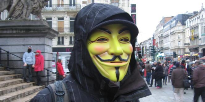 Manifestation contre le traité ACTA à Bruxelles, le 28 janvier.