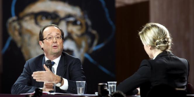 François Hollande au forum de la Fondation Abbé-Pierre sur le mal-logement, le 1er février.