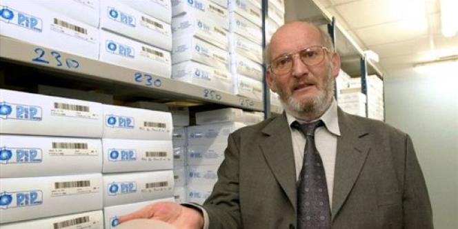 Jean-Claude Mas, président de la société Poly Implants Prothèses (PIP), en 2001.