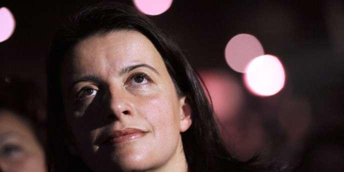 Cécile Duflot, secrétaire nationale d'Europe Ecologie-Les Verts le 11 janvier à Paris.