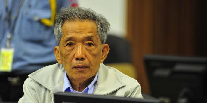 Kaing Guek Eav, alias Douch, auditionné lors du procès en appel qui s'est tenu en mars 2011.