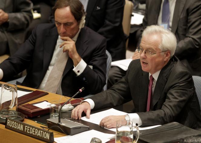L'ambassadeur russe auprès des Nations unies, Vitaly Churkin, au Conseil de sécurité le 31 janvier 2012.