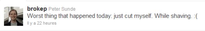 Le compte Twitter de Peter Sunde, fondateur de The Pirate Bay.