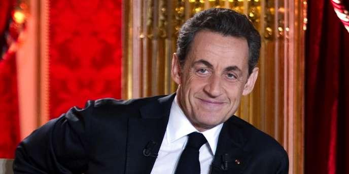 Nicolas Sarkozy à l'Elysée, le 29 janvier.