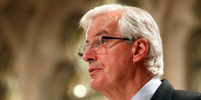 Michel Barnier, commissaire européen aux services financier, en janvier 2012 à Londres.