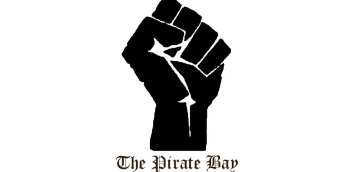 The Pirate Bay a remplacé, sur sa page d'accueil, son traditionnel bateau pirate par un poing levé.