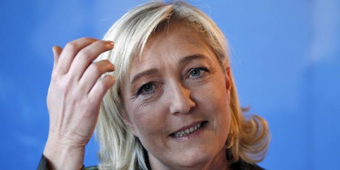 Marine Le Pen, candidate du Front national, lors de la présentation de son comité de soutien, le 2 février.