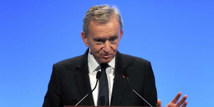 Bernard Arnault , le PDG du groupe LVMH, le 2 février 2012 à Paris.