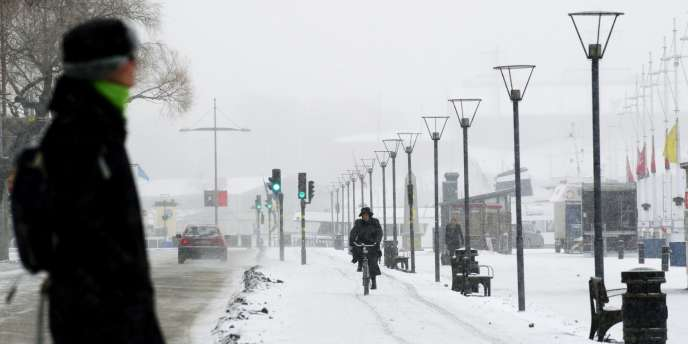Dans les rues de Stockholm, jeudi 2 février.