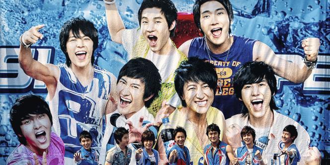 Super Junior est  l'un des groupes  phares de la pop produite en Corée du Sud.Photo :Li Xin/AFP