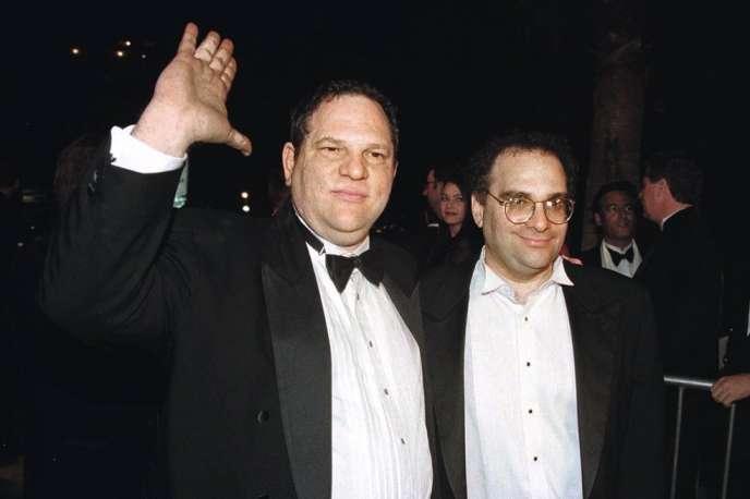 Harvey (à gauche) et Bob Weinstein.