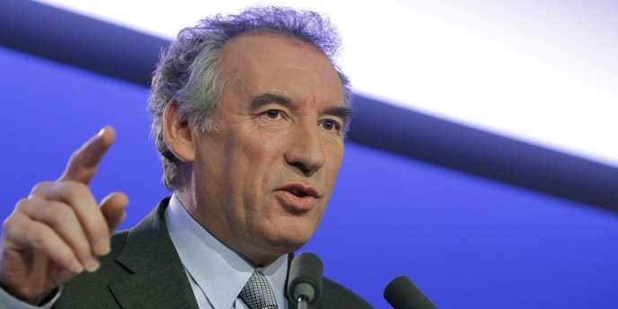 François Bayrou, lors de la présentation de son programme sur l'éducation, le 4 février à Paris.