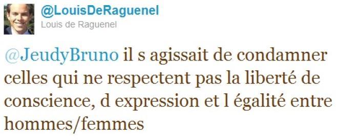 Réponse de Louis de Raguenel, chargé de la veille Internet au ministère de l'intérieur, face à la polémique contre Claude Guéant.