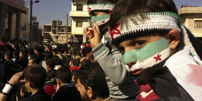 Manifestation hostile à Bachar Al-Assad, le 3 février 2012.