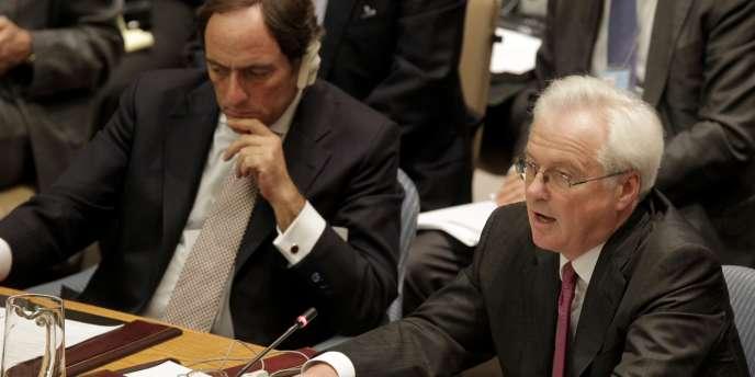 Vitaly Churkin, le représentant de la Russie au Conseil de sécurité de l'ONU, samedi 4 février 2012.