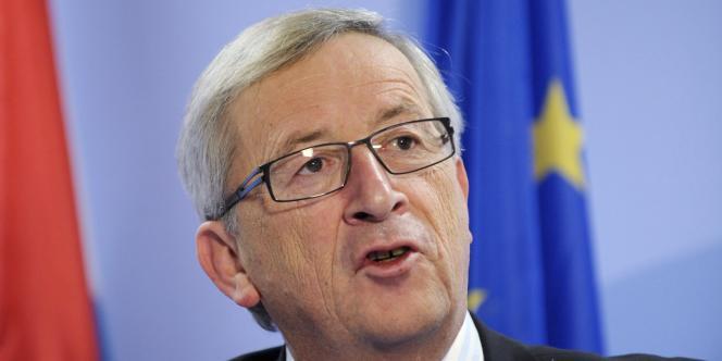 M. Juncker, premier ministre du Luxembourg et chef de file des ministres des finances de la zone euro.