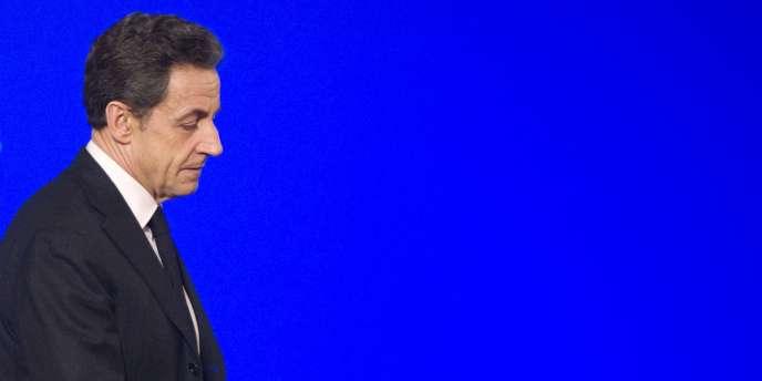 Nicolas Sarkozy, le 3 février 2012, à l'Elysée.
