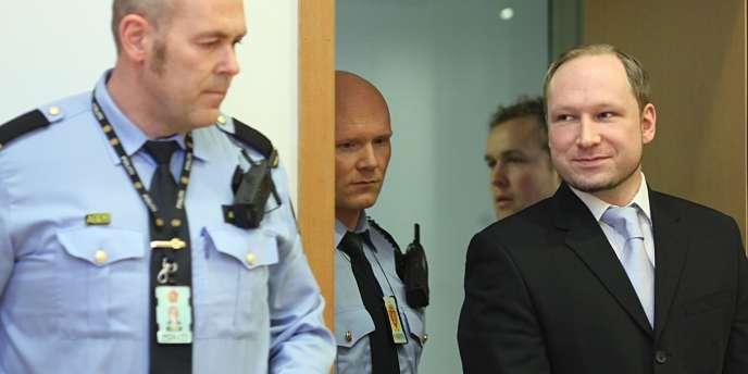 Anders Behring Breivik, comparaissant devant la justice lundi 6 février.
