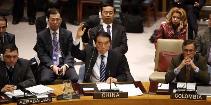 L'ambassadeur chinois à l'ONU, Li Baodong, samedi 4 février à New York.
