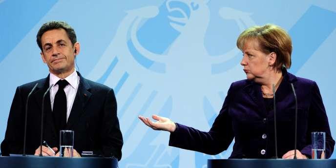 La chancelière allemande Angela Merkel s'est jetée dans la bataille électorale en faveur de Nicolas Sarkozy - ici, le 9 janvier 2011, à Berlin.