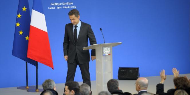Nicolas Sarkozy dans le Tarn, mardi 7 février.
